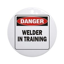 Welder Ornament (Round)