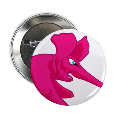 """Three Elephant Tug of War 2.25"""" Button"""