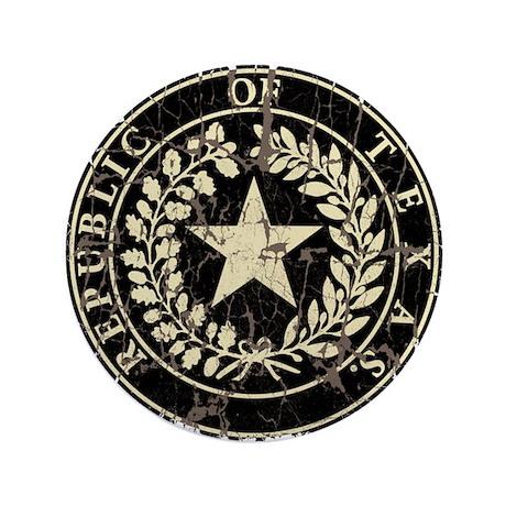 """Republic of Texas Seal Distre 3.5"""" Button"""