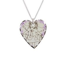 Guardian Angel Necklace Heart Charm