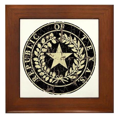 Republic of Texas Seal Distre Framed Tile