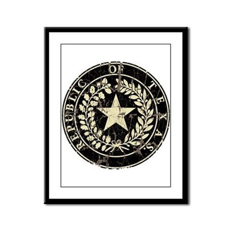 Republic of Texas Seal Distre Framed Panel Print