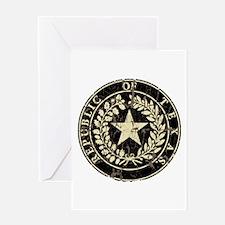 Republic of Texas Seal Distre Greeting Card