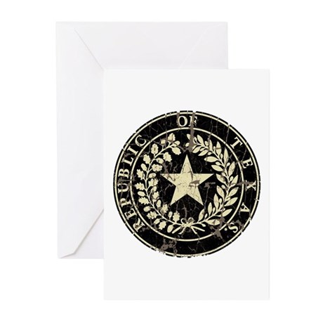 Republic of Texas Seal Distre Greeting Cards (Pk o