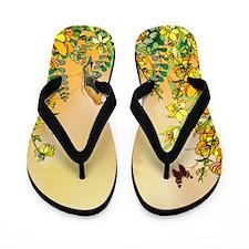 Yellow Paradise Flip Flops