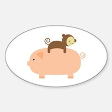 Baby Monkey Riding Backwards Decal