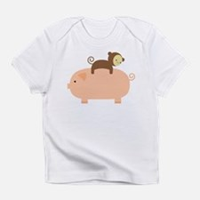Baby Monkey Riding Backwards Infant T-Shirt