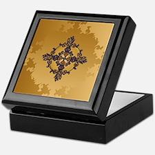 Enchanted Gold Fleur de lis Keepsake Box