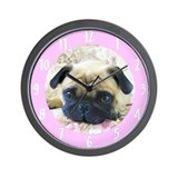 Pug wall clock Wall Clocks