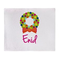 Christmas Wreath Enid Throw Blanket