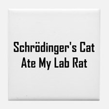 Schrodinger's Cat Ate Tile Coaster