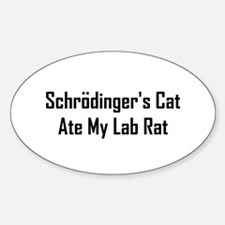 Schrodinger's Cat Ate Sticker (Oval)