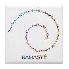 Meaning of Namaste Tile Coaster