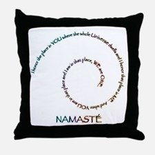 Meaning of Namaste Throw Pillow