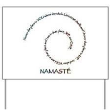 Meaning of Namaste Yard Sign