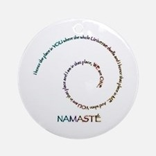 Meaning of Namaste Ornament (Round)