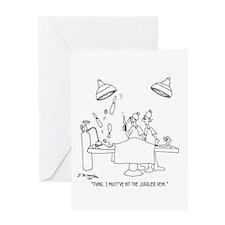 Juggler Vein Greeting Card