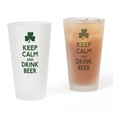 KEEP CALM Shamrock Drinking Glass