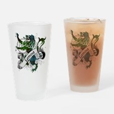 Lamont Tartan Lion Drinking Glass
