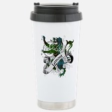Lamont Tartan Lion Stainless Steel Travel Mug
