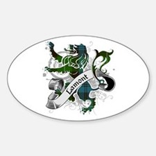 Lamont Tartan Lion Sticker (Oval)