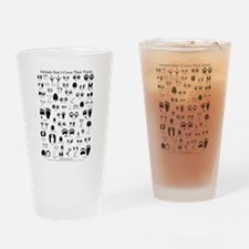 North American Animal Tracks Drinking Glass