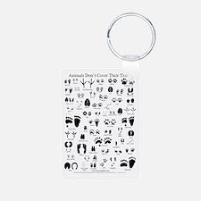 North American Animal Tracks Keychains