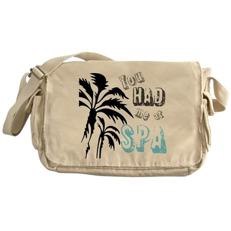 You Had Me at SPA Messenger Bag