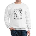 North American Animal Tracks Sweatshirt