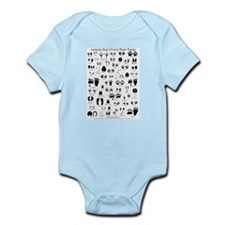 North American Animal Tracks Infant Bodysuit