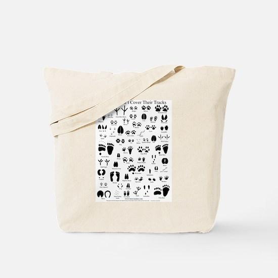 North American Animal Tracks Tote Bag