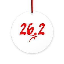 Red 26.2 marathon Ornament (Round)