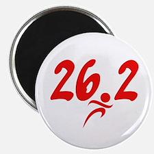 Red 26.2 marathon Magnet