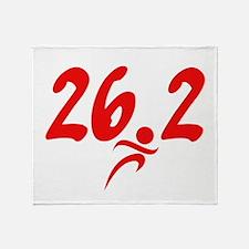 Red 26.2 marathon Throw Blanket