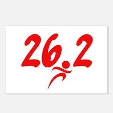 Red 26.2 marathon Postcards (Package of 8)
