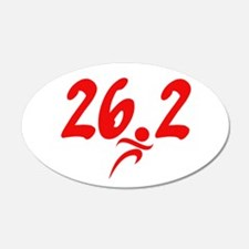 Red 26.2 marathon 22x14 Oval Wall Peel