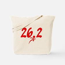 Red 26.2 marathon Tote Bag