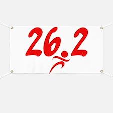 Red 26.2 marathon Banner