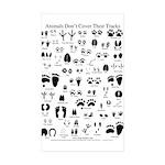North American Animal Tracks Sticker (Rectangle 10