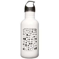 North American Animal Tracks Water Bottle