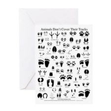 North American Animal Tracks Greeting Card