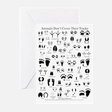 North American Animal Tracks Greeting Cards (Pk of