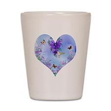 Blue Heart Shot Glass