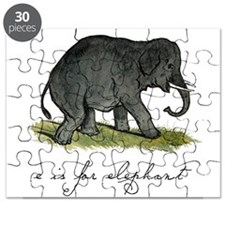 E is for Elephant Puzzle
