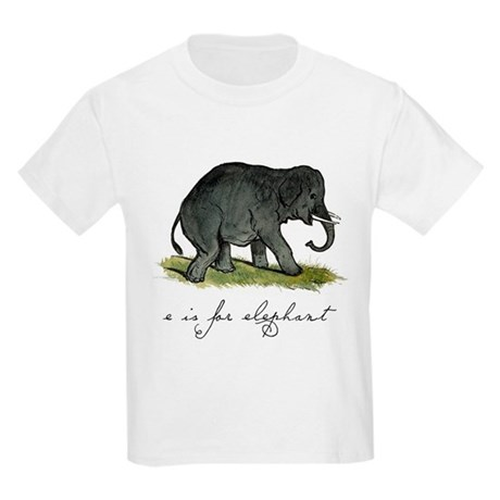 E is for Elephant Kids Light T-Shirt