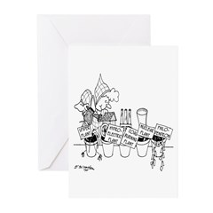 Watering Power Plants Greeting Cards (Pk of 10)
