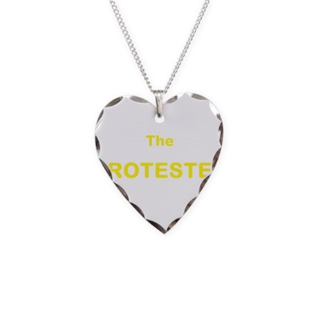 The PROTESTER Yellow Necklace Heart Charm