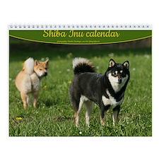 Shiba Inu Wall Calendar