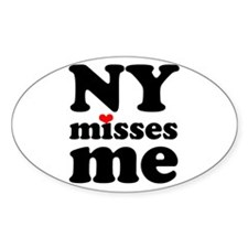 new york misses me Decal