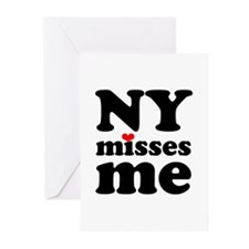 new york misses me Greeting Cards (Pk of 20)